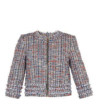 Yuliete Cropped Boucle Jacket