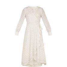Heavenly Dobby Wrap Dress