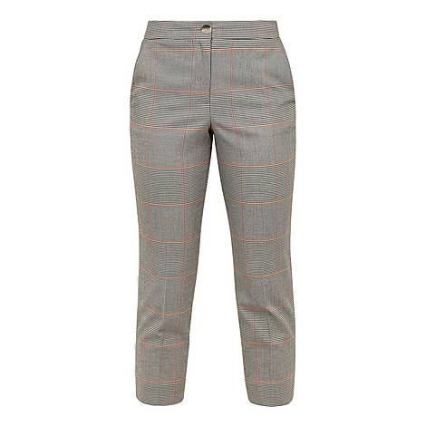 Darceyt Embroidered Checked Trousers, ${color}