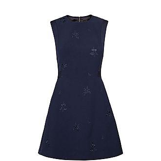 Saahrad Embroidered Shift Dress