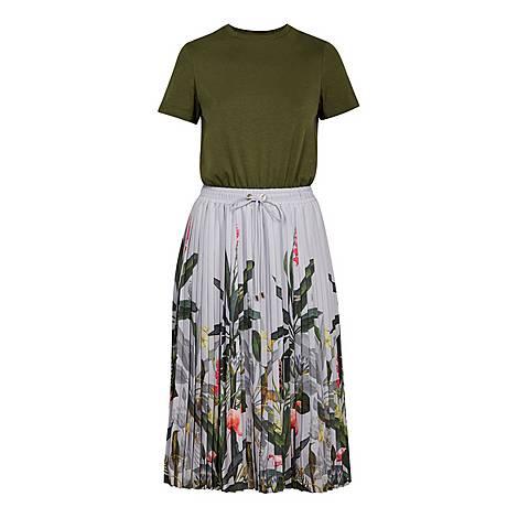 Bobbyn Pistachio Pleated Midi Dress, ${color}