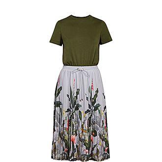 Bobbyn Pistachio Pleated Midi Dress