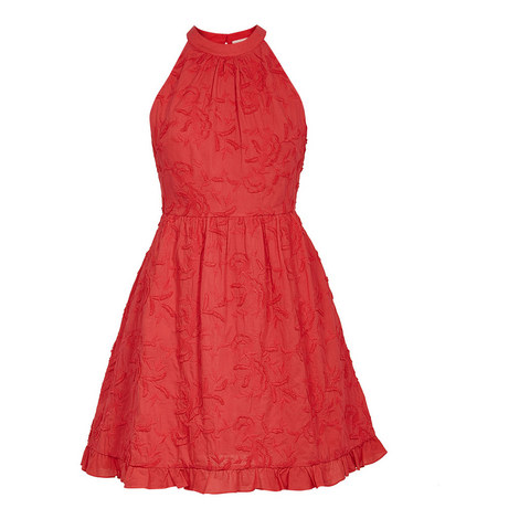 Lorene Skater Embroidered Dress, ${color}