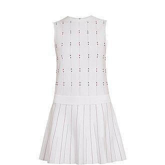 Lornia Check Stitch Detail Dress