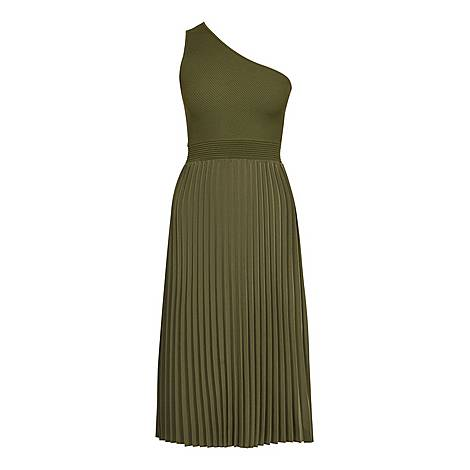 Miriom Asymmetric Knitted Midi Dress, ${color}