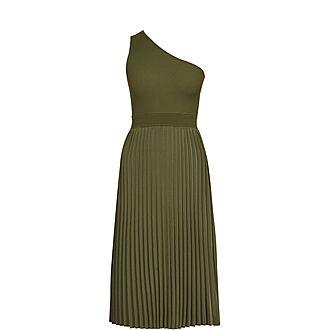 Miriom Asymmetric Knitted Midi Dress