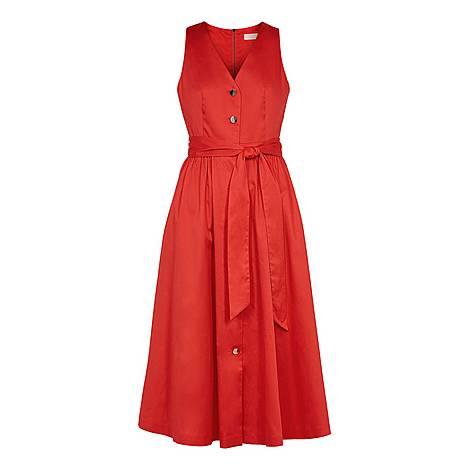 Ryylie Button Down Cotton Midi Dress, ${color}