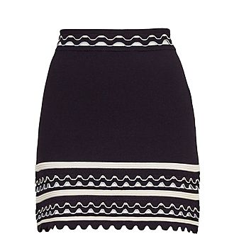 Isibel Frill Striped Skirt