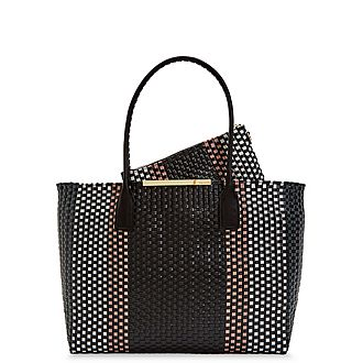 Maxinee Large Woven Tote Bag