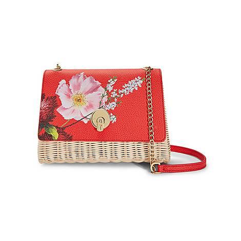 Elaaine Berry Sundae Straw Crossbody Bag, ${color}