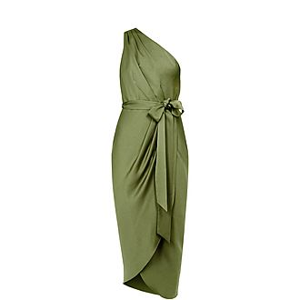Gabie One-Shoulder Drape Dress