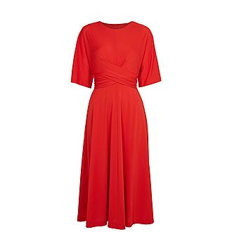 Syrinna Wrap Midi Dress