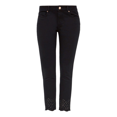 Massiee Embroidered Jeans, ${color}