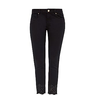 Massiee Embroidered Jeans