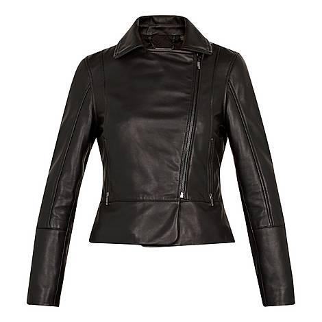 Mandyy Leather Biker Jacket, ${color}