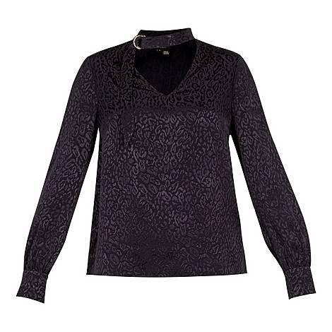 Maybela Leopard Blouse, ${color}