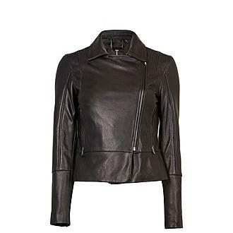 Mandyy Leather Biker Jacket