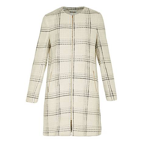 Mairey Boucle Checked Coat, ${color}