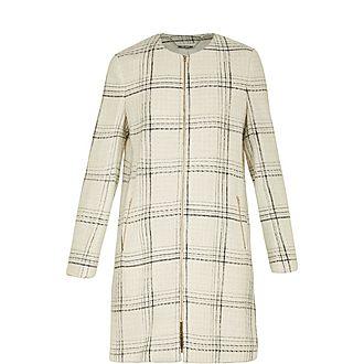 Mairey Boucle Checked Coat