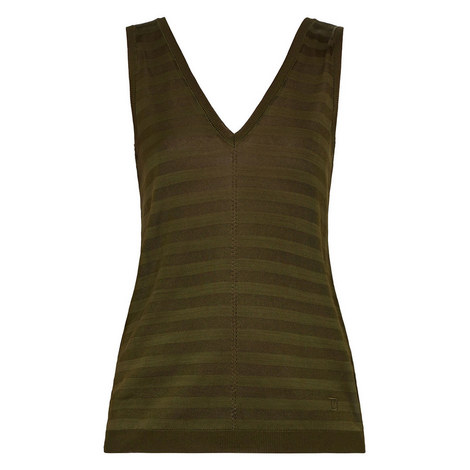 Leysini Knitted Sleeveless Tank Top, ${color}