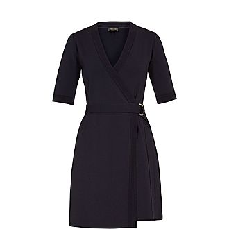 Stefo Knitted Wrap Dress