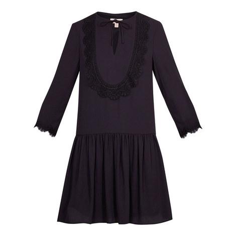 Kourt Drop Waist Lace Bib Dress, ${color}
