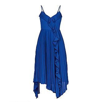 Kattyy Strappy Pleated V-Neck Dress