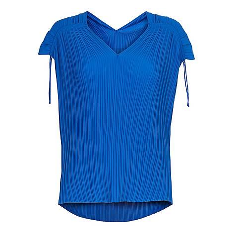 Chasta Tie Shoulder Pleated Top, ${color}