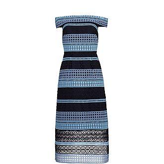 Candaca Bardot Lace Dress