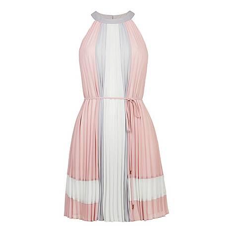 Lellian Contrast Pleated Dress, ${color}