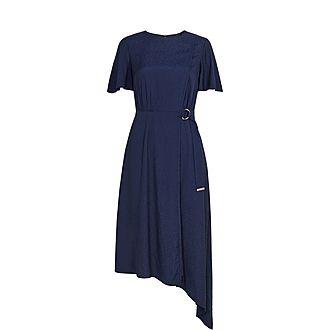 Marniee Asymmetric Ringed Dress