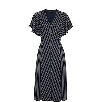 Flissie Striped Midi Dress