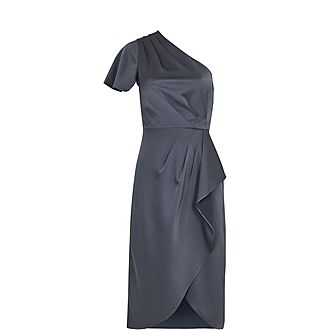 Ridah Waterfall Off The Shoulder Dress