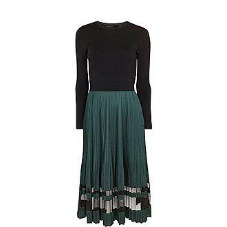 Scarlah Knitted Long Sleeved Dress