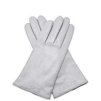 Baaylee Branded Leather Gloves