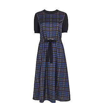 Cohli Check Midi Dress