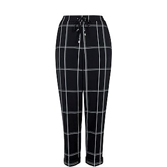 Hansal Checked Tapered Joggers
