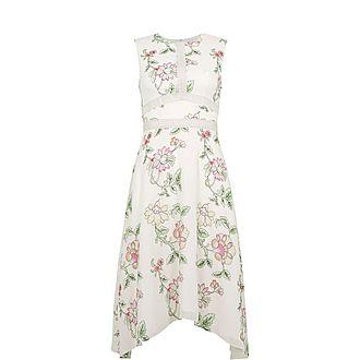 Damita Handkerchief Hem Dress