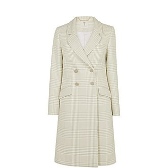 Sophili Double-Breasted Check Coat