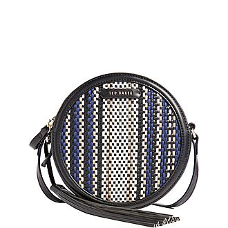 Armara Circular Tassel Detail Shoulder Bag