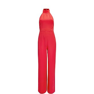 Tallise Halter Neck Wide Leg Jumpsuit