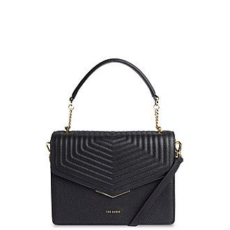 Brittni Leather Quilted Envelope Bag