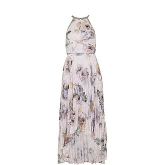 Daniiey Woodland Pleated Maxi Dress