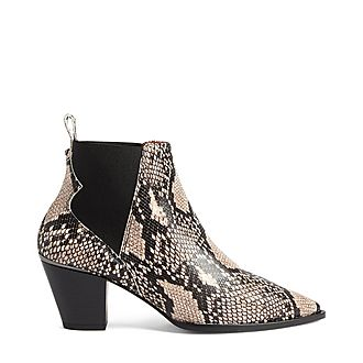 Rilans Embossed Snake Effect Leather Boots
