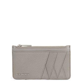 Allexaa Leather Zip-Up Cardholder