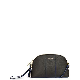 Barbrie Leather Hatch Dome Crossbody