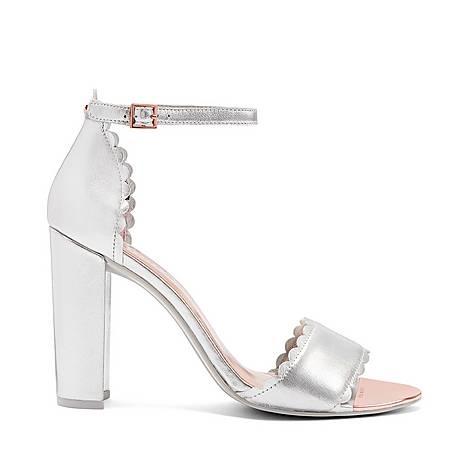 Raidhal Scallop Detail Sandals, ${color}