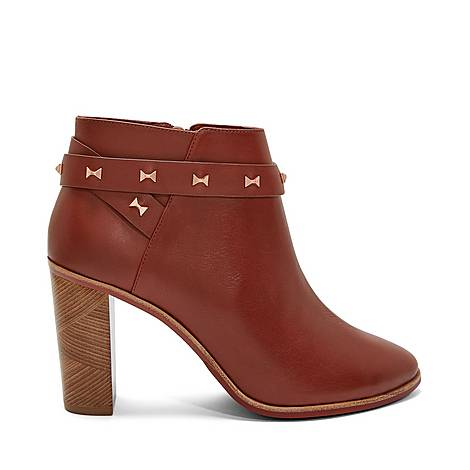 Dotta Studded Bow Ankle Boots, ${color}