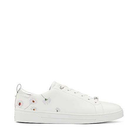 Chalene Embroidered Tennis Trainers, ${color}