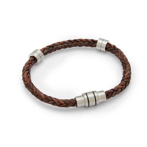 Block Two-Tone Woven Bracelet, ${color}